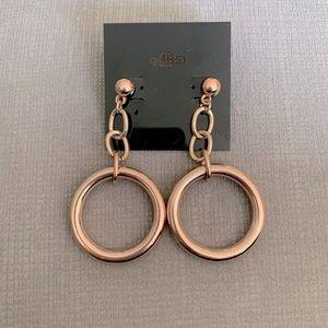 3/$25 Rose gold- tone fashion earrings